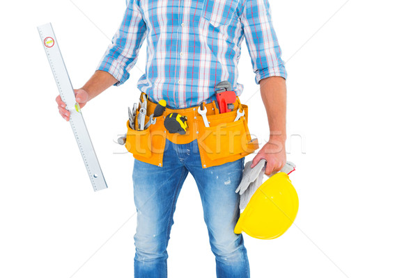 Manual worker holding spirit level Stock photo © wavebreak_media