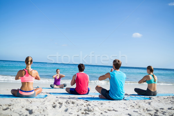 Friends doing yoga together with their teacher  Stock photo © wavebreak_media