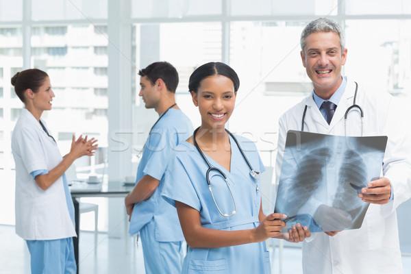 Erkek kadın doktorlar xray tıbbi Stok fotoğraf © wavebreak_media