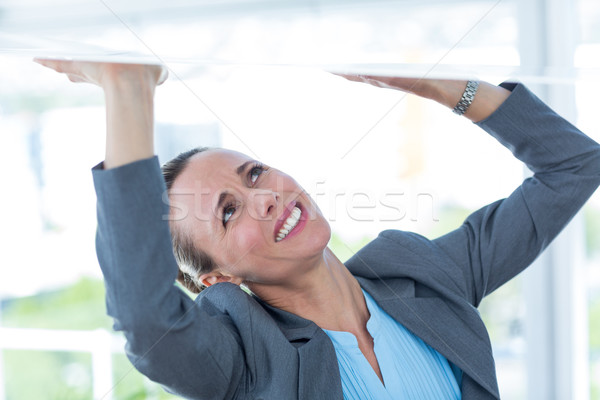 Imprenditrice sentimento intrappolati ufficio donna suit Foto d'archivio © wavebreak_media