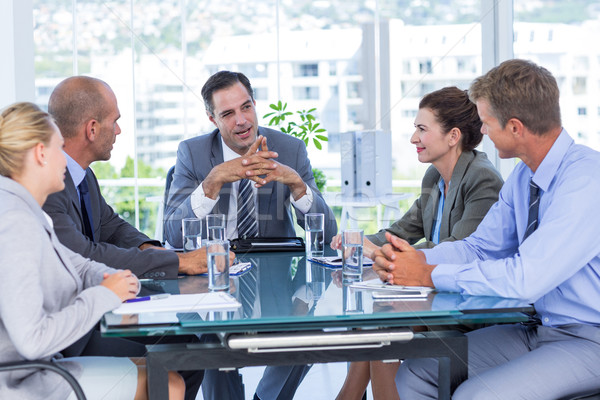 Equipo de negocios reunión oficina negocios mujer feliz Foto stock © wavebreak_media