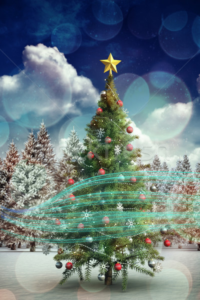 Composite image of christmas tree Stock photo © wavebreak_media