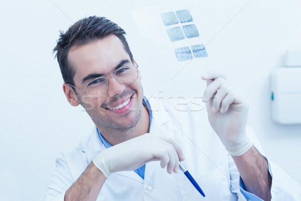Gülen erkek dişçi xray portre Stok fotoğraf © wavebreak_media