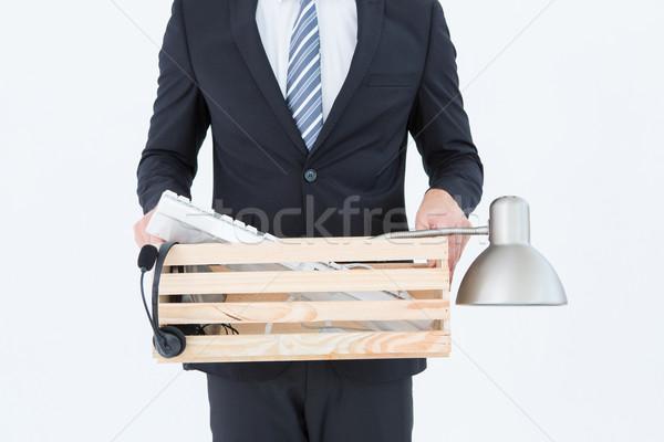 Empresário caixa coisas branco camisas Foto stock © wavebreak_media