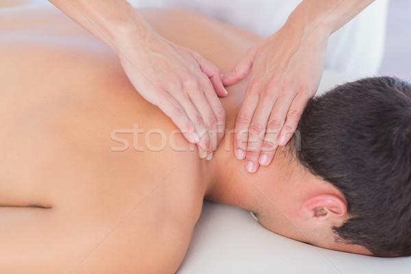Collo massaggio paziente medici ufficio donna Foto d'archivio © wavebreak_media