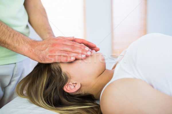 Ver mulher grávida reiki tratamento Foto stock © wavebreak_media
