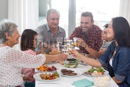 肖像 幸せ 友達 食事 レストラン ワイン ストックフォト © wavebreak_media
