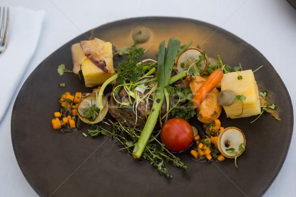 вкусный продовольствие служивший пластина таблице ресторан Сток-фото © wavebreak_media