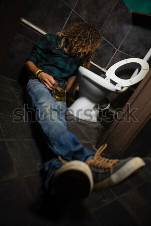 Man vomiting on toilet bowl Stock photo © wavebreak_media