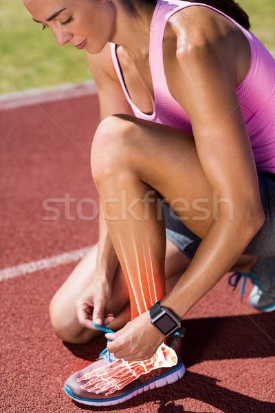 Csontok nő cipő csipke versenypálya digitális kompozit Stock fotó © wavebreak_media