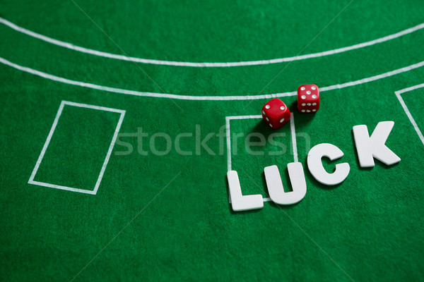 Texte rouge blackjack table verre Photo stock © wavebreak_media