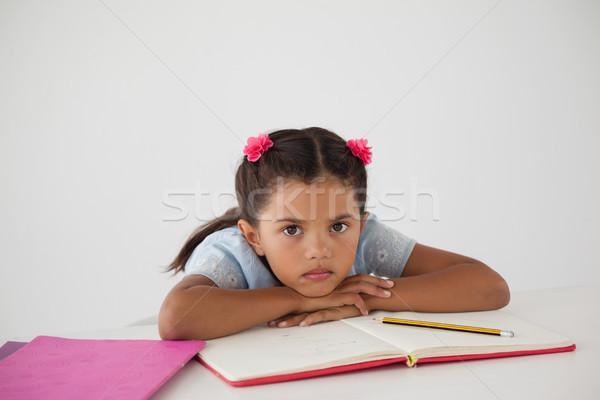 голову столе белый портрет ребенка Сток-фото © wavebreak_media