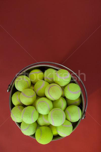 Tl Geel tennis emmer Stockfoto © wavebreak_media