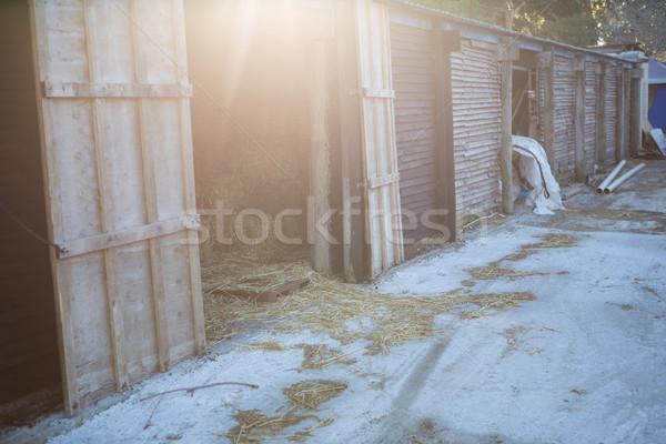 Old horse stable Stock photo © wavebreak_media