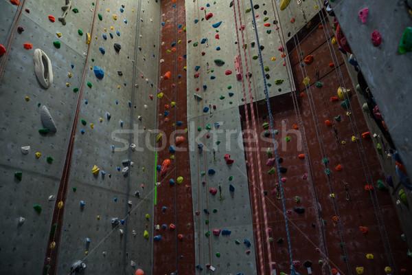 Corde impiccagione climbing muro palestra Foto d'archivio © wavebreak_media