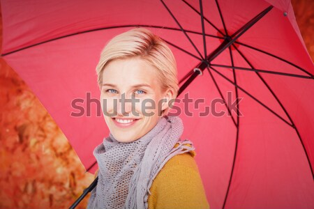 Smiling woman wearing a scarf Stock photo © wavebreak_media