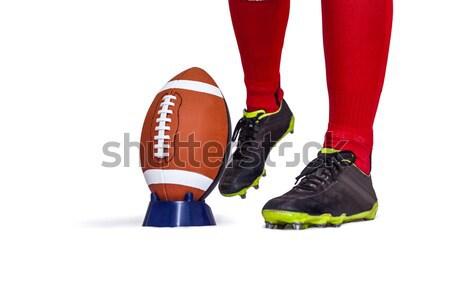 American football player about to kick ball Stock photo © wavebreak_media