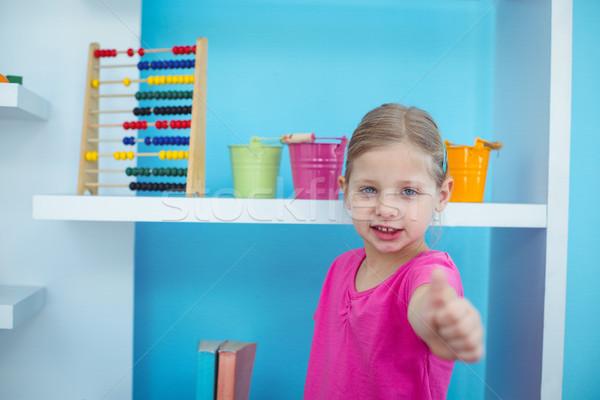 Küçük kız büro mutlu çocuk Stok fotoğraf © wavebreak_media
