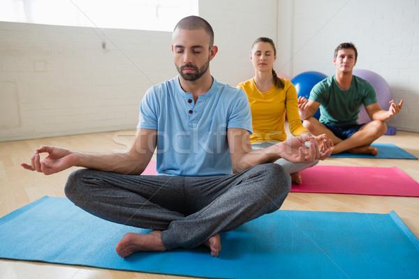 Yoga istruttore studenti club salute Foto d'archivio © wavebreak_media