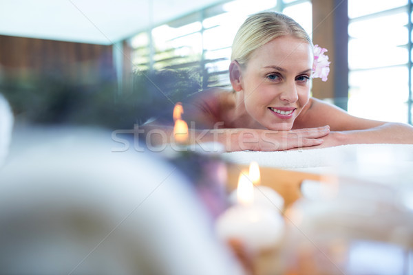 Woman lying on massage table Stock photo © wavebreak_media