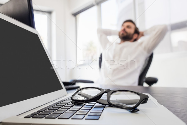 A businessman relaxing in his chair Stock photo © wavebreak_media