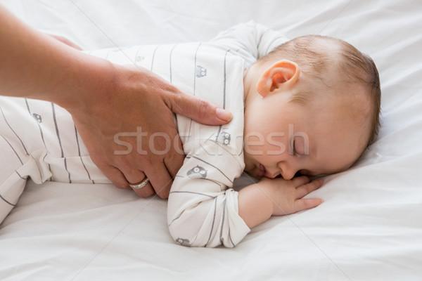 Moeder baby slaap home meisje Stockfoto © wavebreak_media