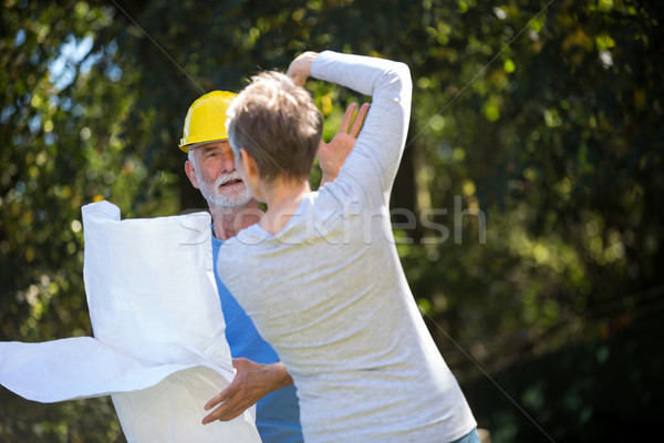 Senior couple interacting with each other in the garden Stock photo © wavebreak_media