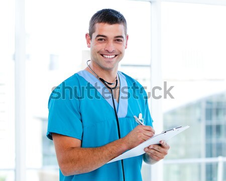 Porträt gut aussehend Chirurg stehen Klinik Stock foto © wavebreak_media
