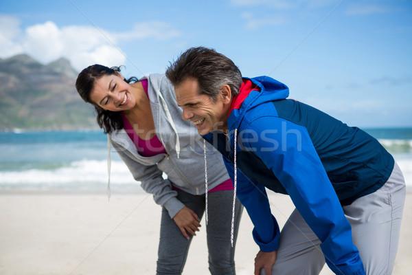 Happy couple taking a break after jogging Stock photo © wavebreak_media