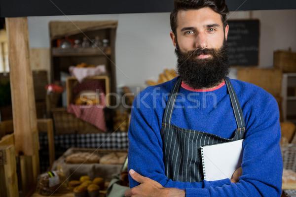 肖像 男性 スタッフ 立って カウンタ ストックフォト © wavebreak_media