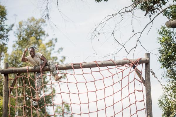 военных солдата скалолазания чистой фитнес Сток-фото © wavebreak_media