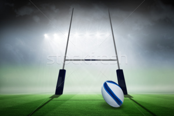 Stock photo: Composite image of rugby ball