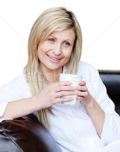 Lively woman holding a cup of coffee  Stock photo © wavebreak_media