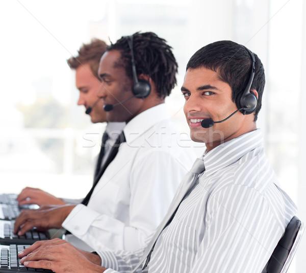 Diverse sale representative partners at work Stock photo © wavebreak_media