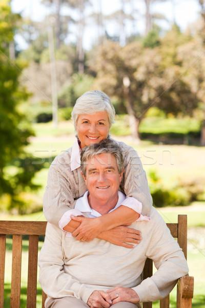 Idoso casal parque amor de volta feminino Foto stock © wavebreak_media