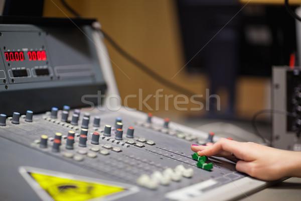 Feminine Hand Sound Studio Musik Technologie Stock foto © wavebreak_media
