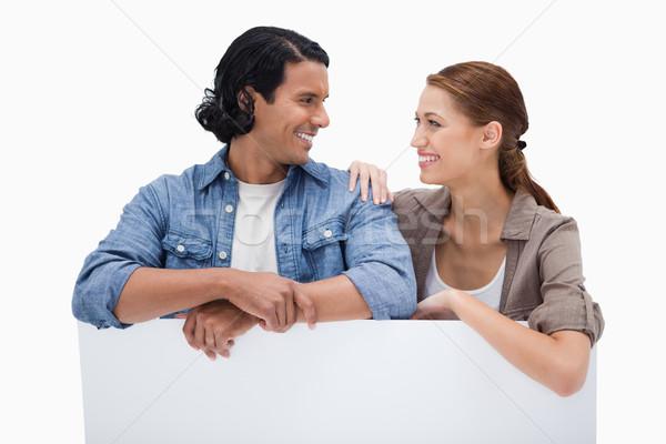 улыбаясь пару стены белый улыбка Сток-фото © wavebreak_media
