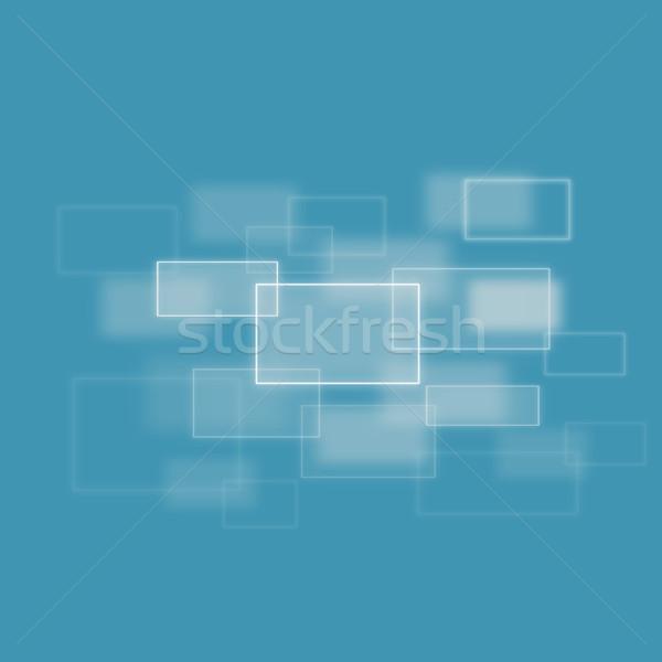Bulanık kareler mavi arka plan beyaz yansıma Stok fotoğraf © wavebreak_media