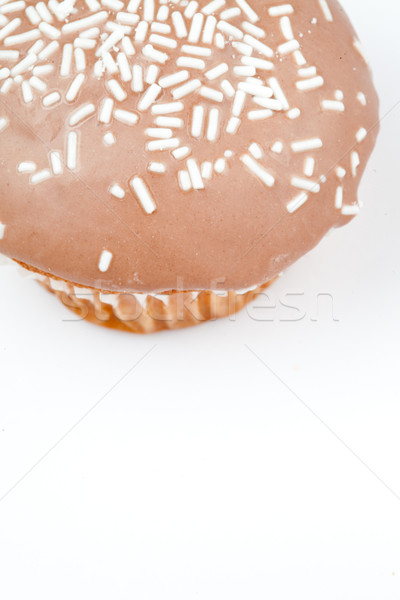 Extreme close up of a muffin with icing sugar against a white background Stock photo © wavebreak_media