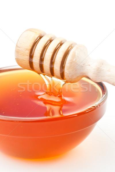 Méz tál fehér háttér édes lekvár Stock fotó © wavebreak_media