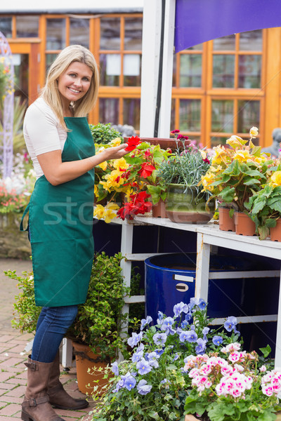 Woman working in garden center handling the flowers Stock photo © wavebreak_media
