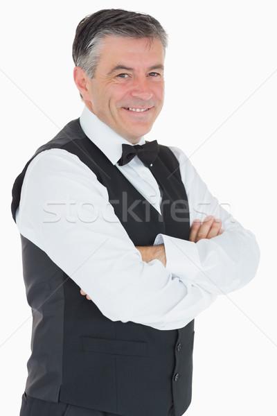 Smiling man in waistcoat and bowtie Stock photo © wavebreak_media