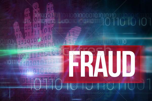 Fraude bleu technologie design code binaire mot Photo stock © wavebreak_media