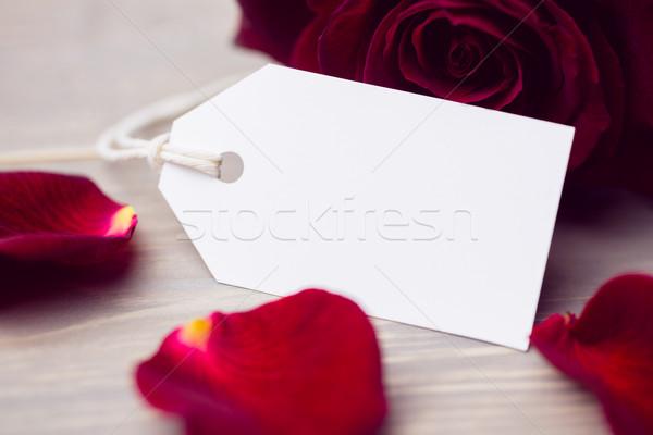 バラの花びら 白 カード 自然 赤 工場 ストックフォト © wavebreak_media