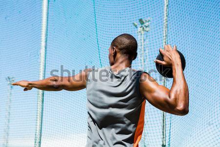 Portré fiatal sportos férfi fut hozzáállás Stock fotó © wavebreak_media