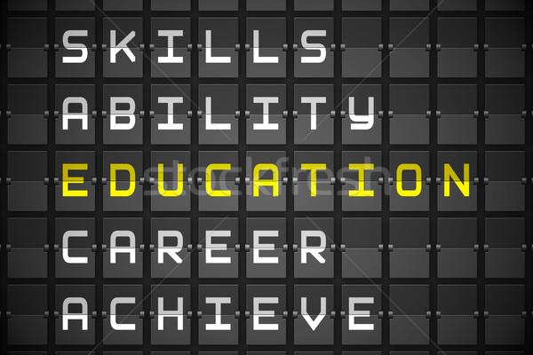 Oktatás fekete gépi tábla digitálisan generált Stock fotó © wavebreak_media