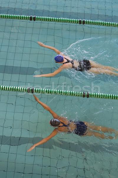 女性 レース スイミングプール レジャー センター 水 ストックフォト © wavebreak_media
