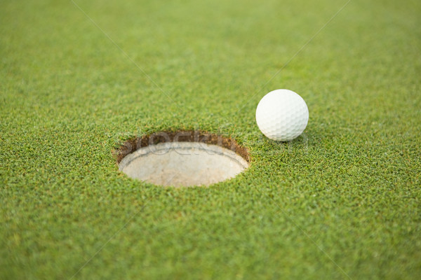 Golfball borda buraco campo de golfe esportes Foto stock © wavebreak_media