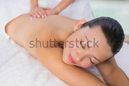 Contenido morena atrás masaje spa Foto stock © wavebreak_media