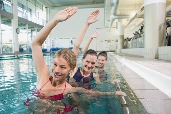 Kobiet fitness klasy aerobik basen Zdjęcia stock © wavebreak_media
